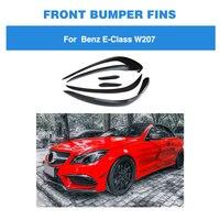 For Mercedes Benz E Class W207 E350 E400 E550 Coupe Convertible Sport 2014 2015 2016 Carbon Fiber Front Bumper Trim Air Vent