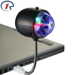 ZjRight 2 in1 USB фонари освещения Портативный красочные диджейские огни KTV Led лампа освещение для сцены для вечерние диджей KTV бар & белый стол свет