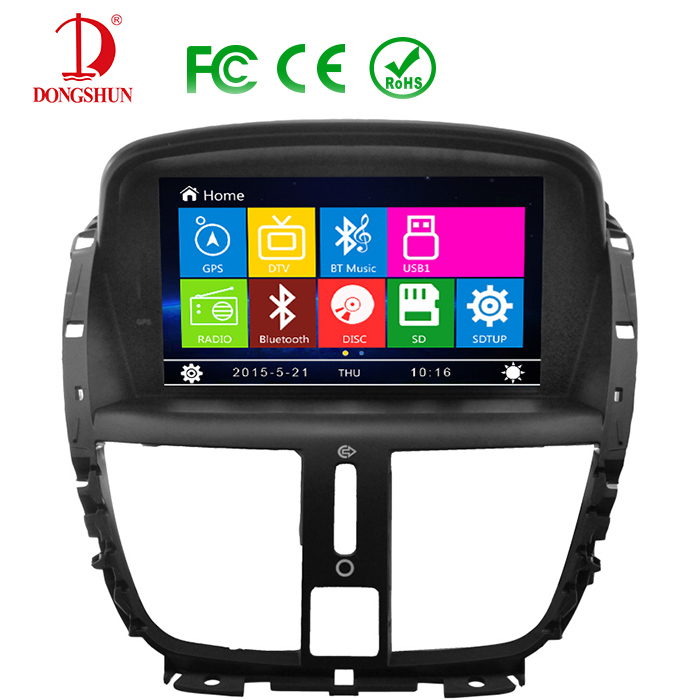 car dvd player gps navigation autoradio radio stereo for peugeot 207 2009 2011 in car multimedia. Black Bedroom Furniture Sets. Home Design Ideas