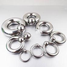 1 шт., большой размер, нержавеющая сталь, в плену, бусина, кольцо PA, пупка, кнопки, кольца, трагус, носа, кольца, пирсинг тела, украшения