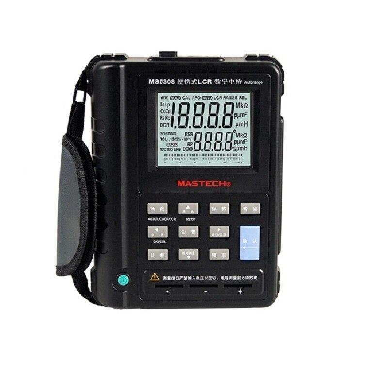 Mastech MS5308 LCR Meter Portable Handheld Auto Range LCR Meter High Performance 100Khz mastech meter mastech