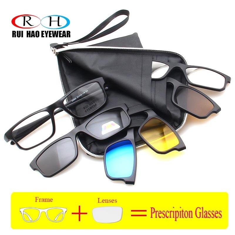 Myopia Prescription Glasses Men Optical Eyeglasses Frames Vision Prescription Spectacles TR90 Men Frame Glasses Sunglasses clip