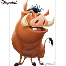 Dispaint Full Square/Round Drill 5D DIY Diamond Painting Cartoon Wild boar Embroidery Cross Stitch 3D Home Decor A12729