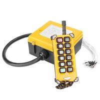 Crane Chain Hoist Push Button Switch Lifting Remote Controller with 12 Buttons Made of Sturdy Plastic