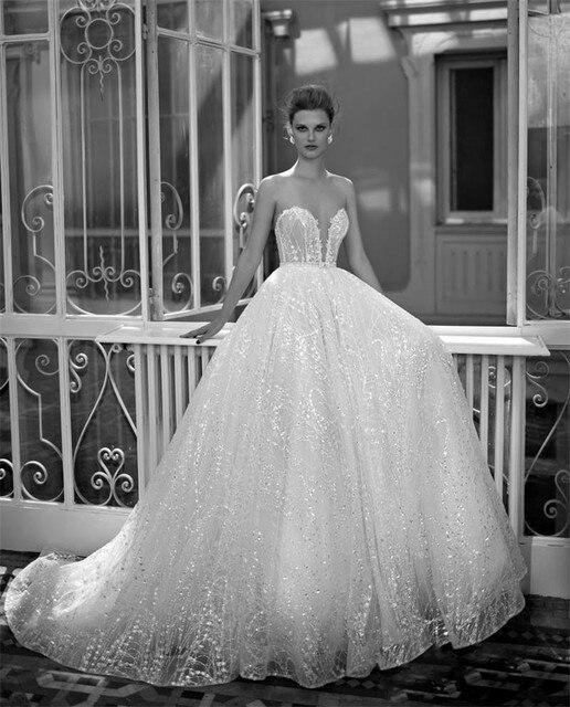 2017 Berta Bridal Wedding Dress Sparkling Sequins Sweetheart ...