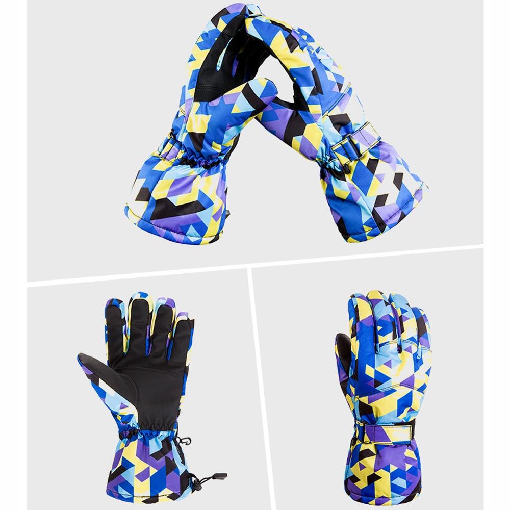 TENNEIGHT Hiver Chaud Gants de Ski Hommes Coupe-Vent Tactile Écran Gants De Neige Motoneige Étanche gants D'équitation Snowboard Gants - 2