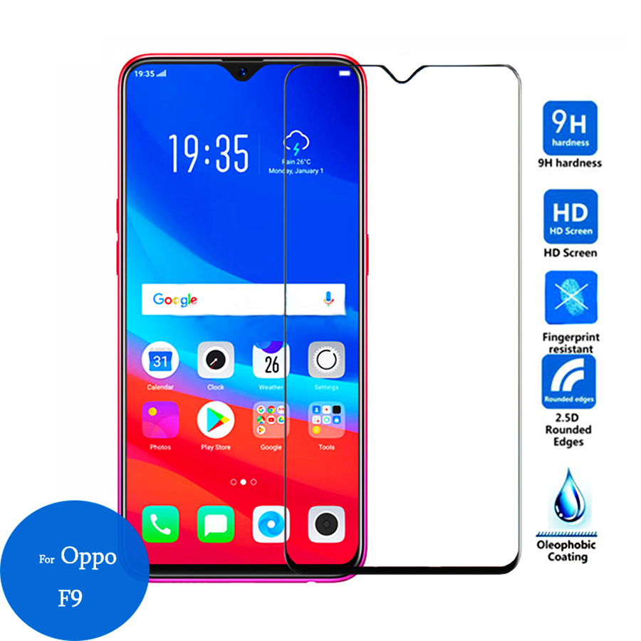 Tempered Glass On For OPPO A3S Protective Glass For OPPO A5S A5 A9 Full Cover Screen Protector For OPPO A 3S 5S Protective Film 2