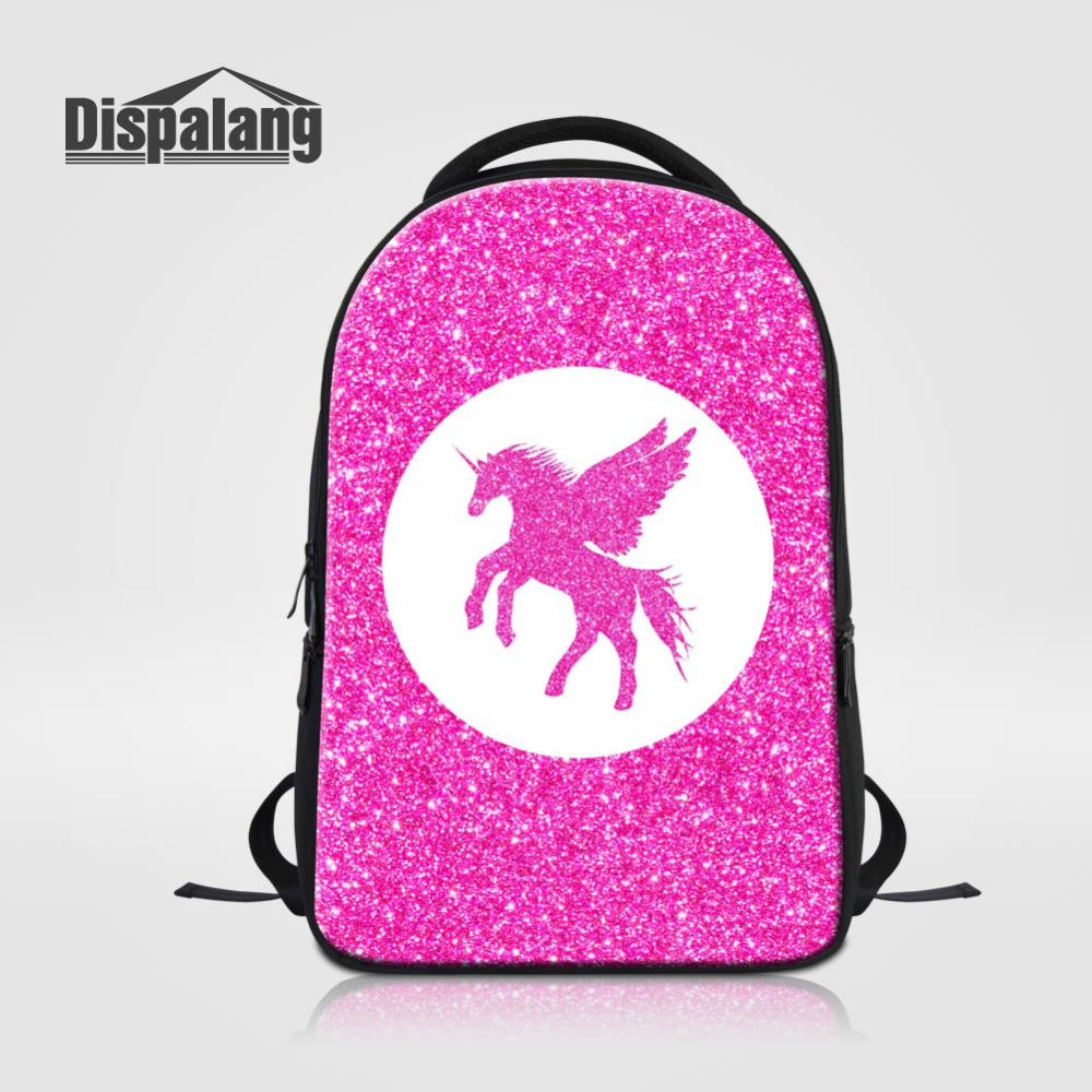 Dispalang High Quality Laptop Backpack For Men Women Horse Unicorn Large School Bags for Teens Casual Travel Laptop Bag Rucksack high quality authentic famous polo golf double clothing bag men travel golf shoes bag custom handbag large capacity45 26 34 cm
