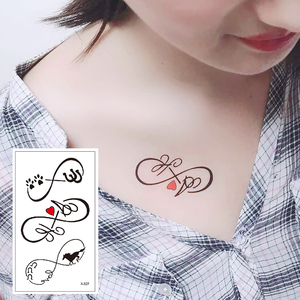 X-527 High Quality Temporary Tattoos Stickers Removable Waterproof Men Women Fake Body Arm Chest Shoulder Tattoos