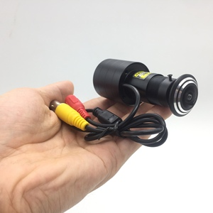 Image 1 - Sony 323 ccd AHD 1080P 1.7mm רחב זווית דלת עיניים חור וידאו מיני מצלמה Wired צבע CCTV 1200TVL מעקב מצלמה עבור AHD DVR