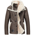 2016 новое прибытие зима PU повседневная шерсть liner wram траншеи пальто мужчины, плюс размер M, L, XL, XXL, XXXL, XXXXL, черный