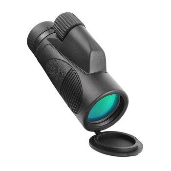 AOMEKIE 8X/10X42 Monocular Bak4 Prism FMC Optical Glass Lens High Power Telescope for Hunting Bird Watching Waterproof Scope