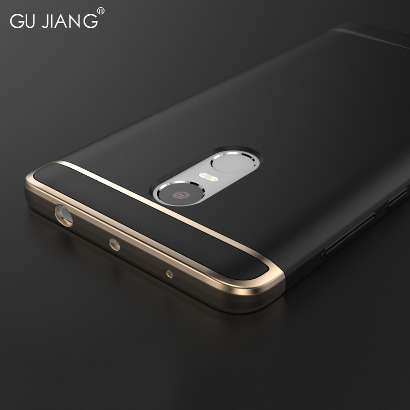 GUJIANG Brand Luxury 3 in 1 Case Protector for Xiaomi Redmi Note 4 Pro/Prime Phone Back Cover for Redmi No