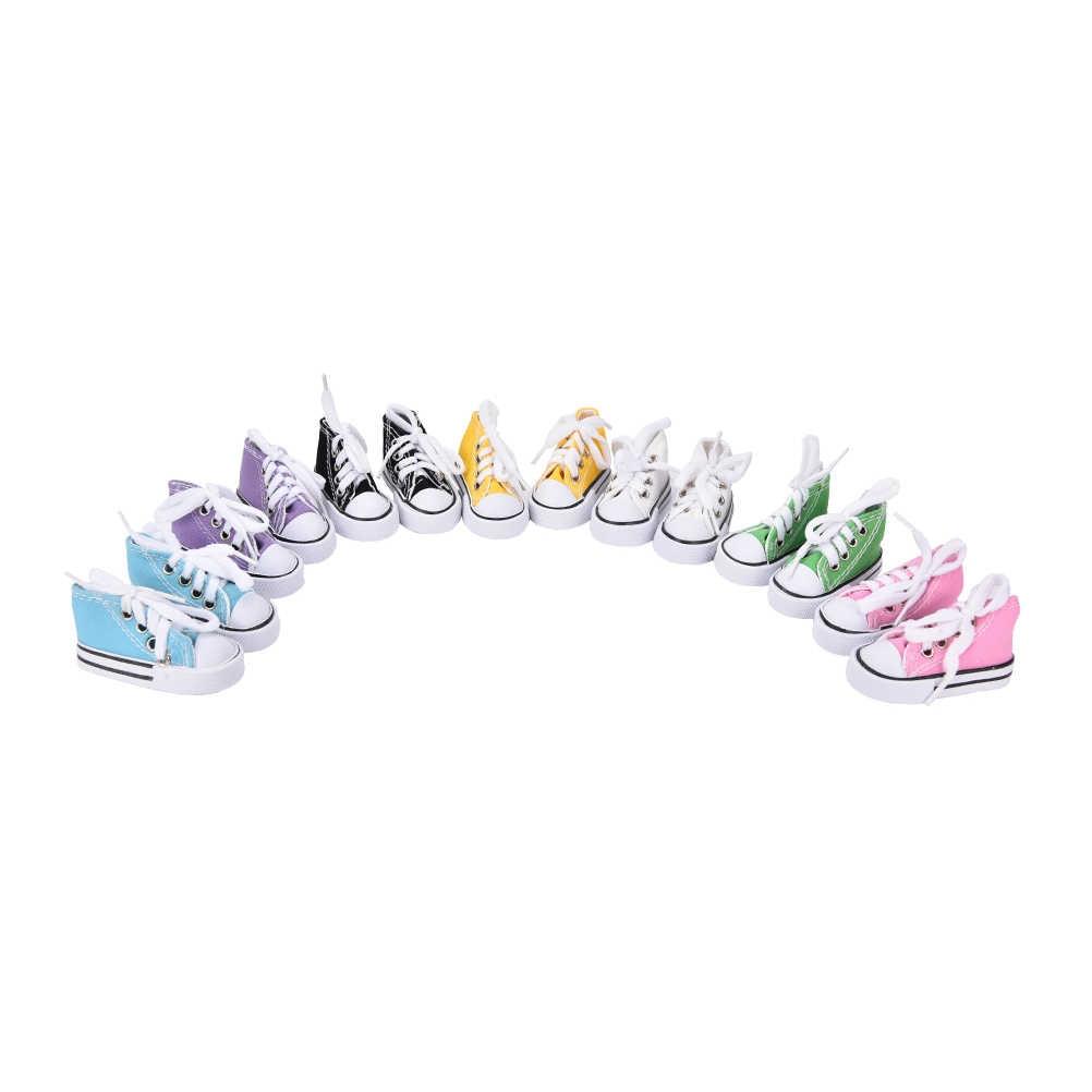 1 пара Горячая Распродажа мини-кукольная обувь для кукла Шэрон сапоги куклы Снеговики аксессуары 7,5 см джинсовая парусиновая обувь для BJD кукла игрушка