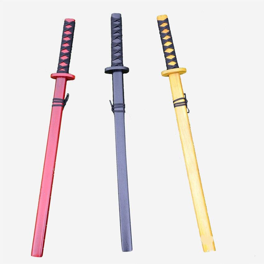 Madeira japão samurai espada lã singlestick mudao brinquedo mostrar adereços katana criança jogar pk esgrima brinquedo arte marcial amantes kung fu