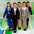 5 Set/Lot Male Dolls Clothes Mix Style Clothes For Prince Ken Fashion Outfit Clothes  For Ken Male Dolls Accessories Toy Mufti
