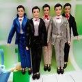 5 Set/Lot Ropa de Muñecas Masculinas Ropa de Estilo de La Mezcla Para El Príncipe Moda Outfit Ropa Para Ken Ken Masculina Accesorios de Muñecas de Juguete Mufti