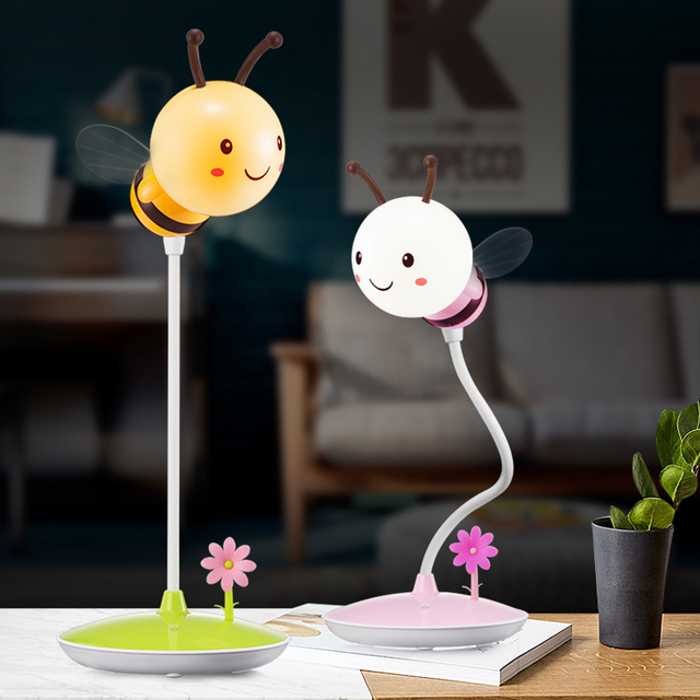 Cute Cartoon Hose Led Night Light Usb Rechargeable Table Lamps Bedroom Reading Dimming Lights Indoor Lighting