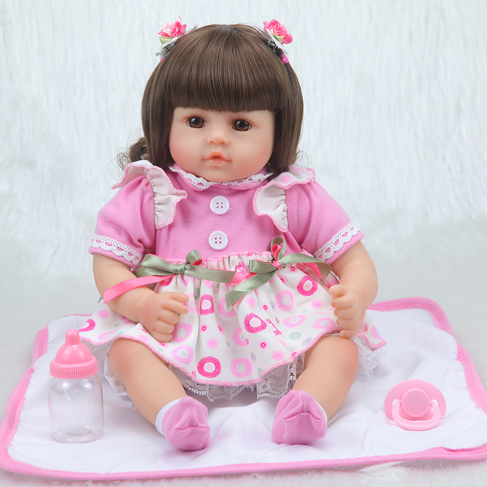 Forrsdor New 42cm cotton body Baby girl with cute newborn baby clothes limited Collection toys Silicone Reborn Baby dolls-in Dolls from Toys & Hobbies    2