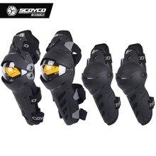 SCOYCO Motorcycle knee pads Elbow pads Racing Motocross knee protector motorbike gear pads Sports Scooter Protective Kneepads