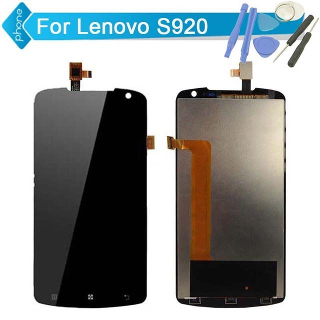 Para lenovo s920 display lcd touch screen digitador assembléia + ferramentas; frete grátis