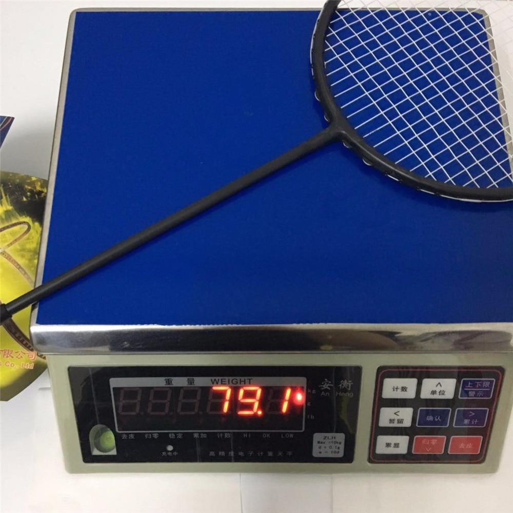 2018 New Powerful badminton racket strong 35Lbs ultra light 6U stiff high modulus graphite badminton rackets male racquet