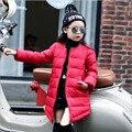 Дети случайные сверхлегкий вниз пальто девушки зимняя куртка девушки пуховики длинный тонкий вниз пальто