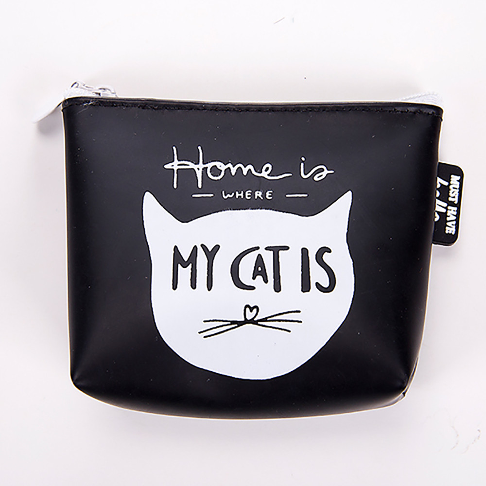 Girls Cute Silica Gel Coin Purse Print Cat Coin Purse Fashion Women Wallet Bag Change Pouch Key Holder 500g about 500bags 1g bag opp silica gel desiccant