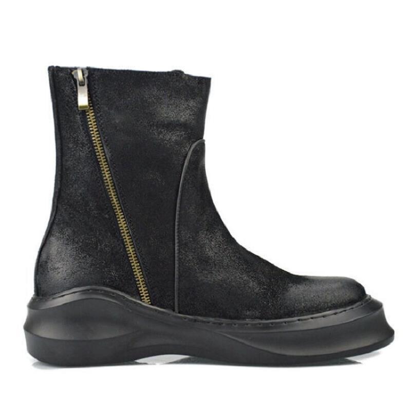 Chaussures Top Northmarch Cheville Occasionnels Fond Bottes En Hiver Marque Moto Style Noir Russe Épais Qualité Hommes Cuir GpSqUzMV