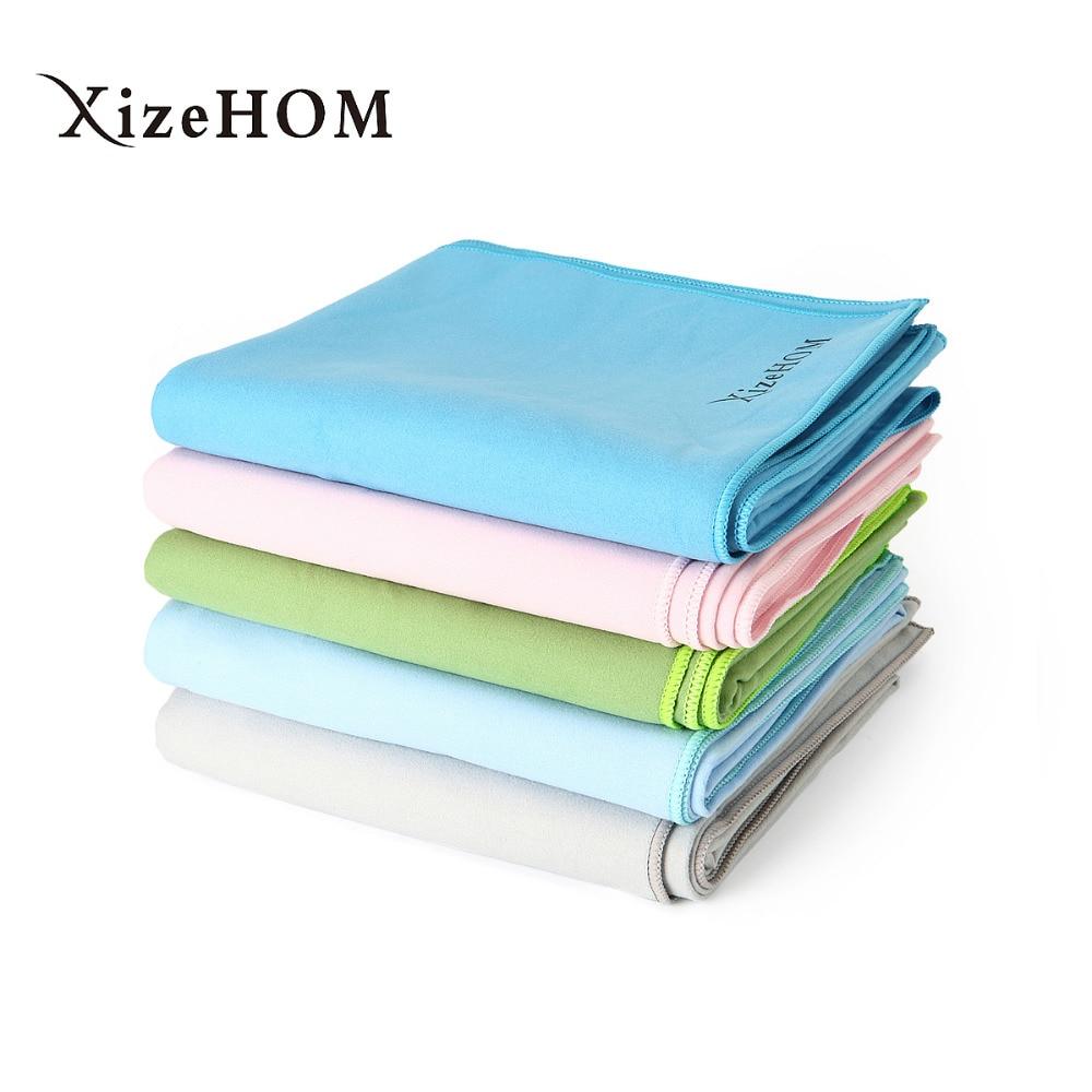 XizeHOM 80*180cm Beach towel Microfiber Travel Fabric Quick Drying outdoors Sports Swimming Camping Bath Yoga Mat Blanket Gym