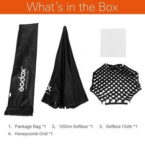 """Image 2 - Godox Portable 120cm 47 """"nid dabeille grille octogone parapluie Softbox Photo Softbox réflecteur pour Flash Speedlight"""