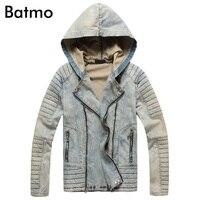 Batmo 2018 New Arrival High Quality High Street Hooded Denim Jackets Men Men S Denim Jackets