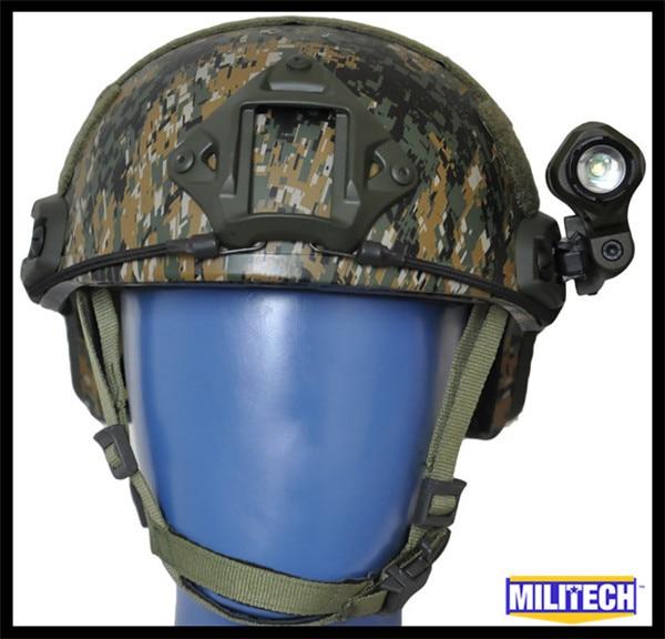 M/Lg AOR2 NIJ LVL IIIA Ballistic Imported ARAMID High Cut Bulletproof Helmet Woodland Camo MICH MC CAG Flashlight Set