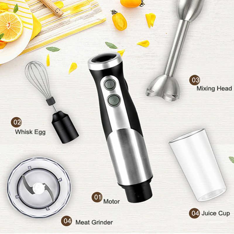 2018 800 Вт ручной блендер 4 в 1 Портативный Погружной блендер для Кухня кухонный комбайн взбейте электрический соковыжималка