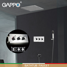 GAPPO Shower faucet bath shower heads waterfall wall mounted set concealed Thermostatic mixer system