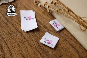 Custom Sewing labels / brand labels, Custom Clothing Tags, Cotton Ribbon label, Handmade label (MD56)