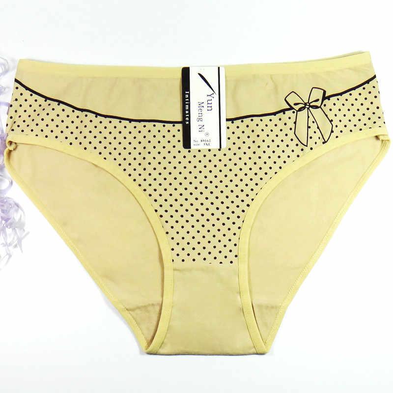 Yunเม้งNiผู้หญิงกางเกงขนาดบวกXXL XXXL 4XLชุดชั้นในผ้าฝ้ายพิมพ์เซ็กซี่สุภาพสตรีกางเกงในกางเกงชั้นในใหม่Boyshortsกางเกง89162