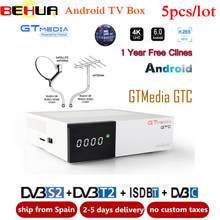 5 pcs GTmedia GTC android 6.0 tv hộp Thu Vệ Tinh DVB-S2 DVB-C DVB-T2 ISDB-T 2 GB + 16 GB Amlogic s905D GTmedia GTC Set top box(China)