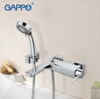 GAPPO 1set Wall Mount Bathroom Sink Faucet Mixer Torneira Brass Body Cold Hot Water Bathtub Shower
