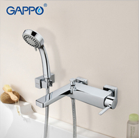 GAPPO 1set Wall Mount Bathroom Sink Faucet Mixer Torneira Brass Body Cold Hot Water Bathtub Shower