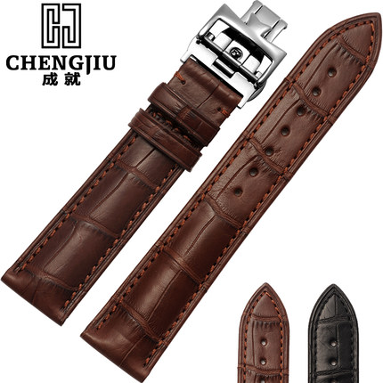 19 20 21 22mm Crocodile Leather Strap For Vacheron Constantin/Melisa/Longines Watchband Wrist Bracelet Montre Band Men Butterfly women crocodile leather watch strap for vacheron constantin melisa longines men genuine leather bracelet watchband montre