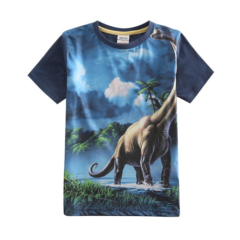 Garçons t-shirts d'été novatx enfants portent imprimé animal chaude vente enfants vêtements bébé garçons tops d'été avant polyester tee 5-10
