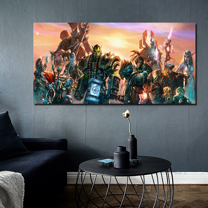 World Of Warcrafts Horde And Alliance Canvas Painting Living Room Home Decoration Modern Wall Art Oil Painting Posters Pictures in Painting Calligraphy from Home Garden