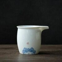 Пинни 220 мл ручная роспись белый фарфор ярмарка чашки ручной работы керамический чахай китайский чайный набор кунг-фу термостойкие чайные ч...