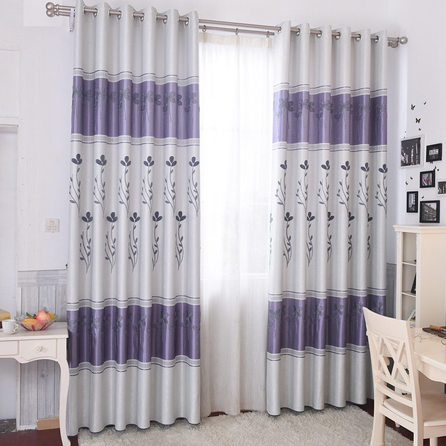Modern Embroidered Minimalist Blackout Curtains For Livingroom ...