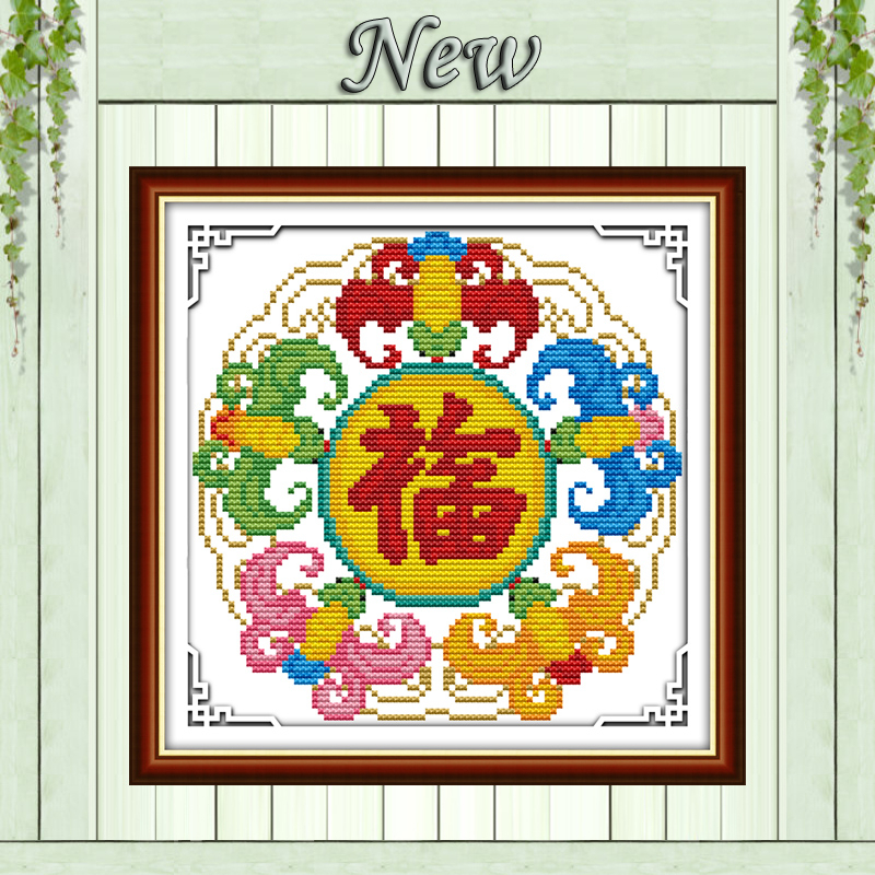 Blessing picture home decor paintings counted print on canvas DMC 14CT 11CT Chinese Cross Stitch Needlework Sets Embroidery kits image
