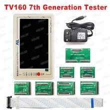 רשמי TV160 7th טלוויזיה Mainboard Tester כלים 7 אינץ LCD תצוגת Vbyone LVDS כדי HDMI ממיר עם שבעה מתאם פנלים