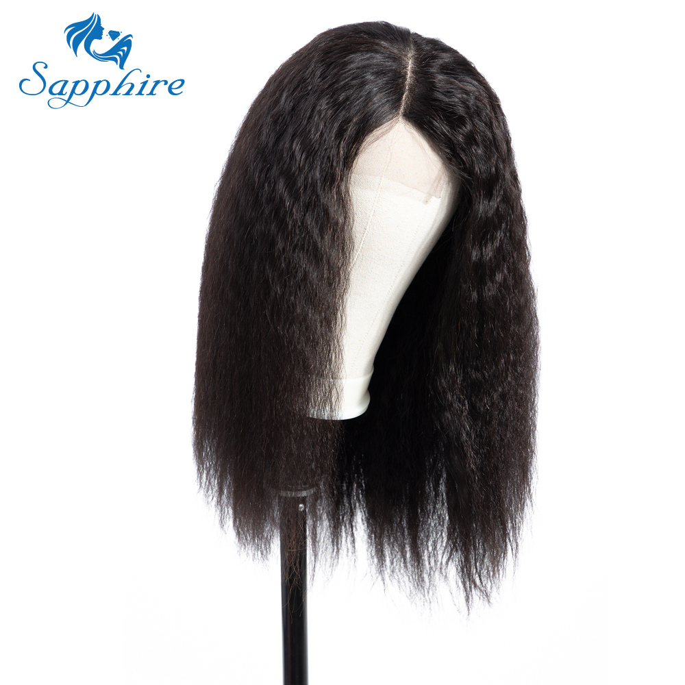 HTB1yLX1a2fsK1RjSszbq6AqBXXab Sapphire 4*4 Deep Part Lace Wigs Brazilian Human Hair Wigs Pre Plucked Yaki Straight Kinky Straight Lace Closure Wigs For Women