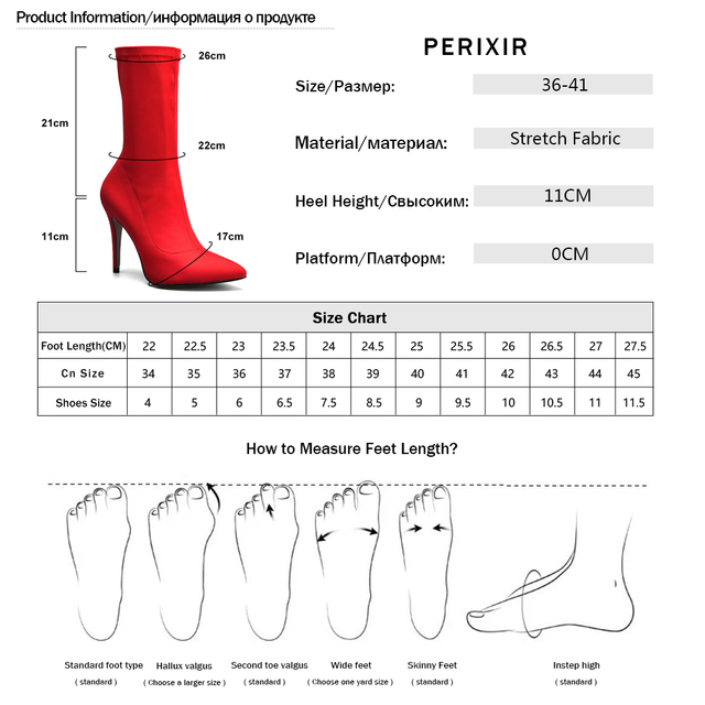 Perixir 2019 New boots women Stretch Fabric Pointed toe Ankle boots high heels Zip basic High Boots Sexy Pumps women shoes
