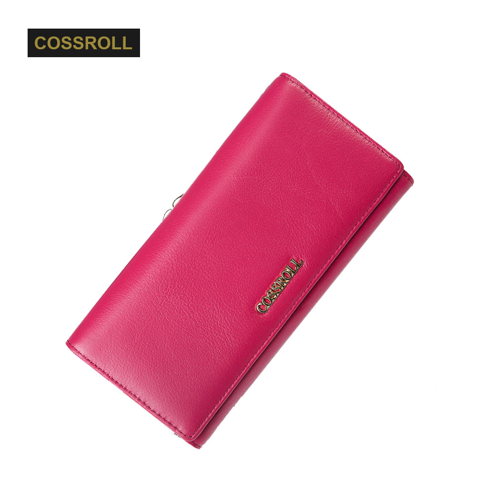 Genuine Leather Wallet Female Hasp Fashion Dollar Price Long Women Wallets Cell Phone Purse Lady Clutch Bag  Card Coin Pocket стоимость